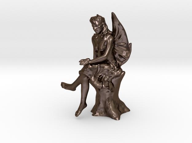 Fairy Pendant in Polished Bronze Steel