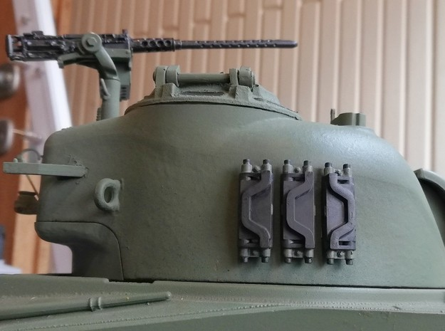 1:16 Sherman T54E1 track link x6 in Smooth Fine Detail Plastic