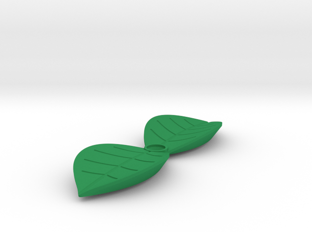 Leaf shaped outlet cover in Green Strong & Flexible Polished