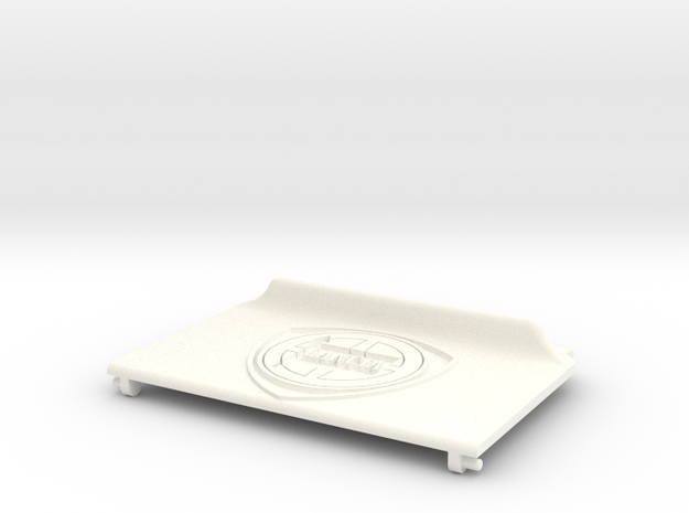 Lancia Delta Compartment Sunroof LID Lancia in White Processed Versatile Plastic