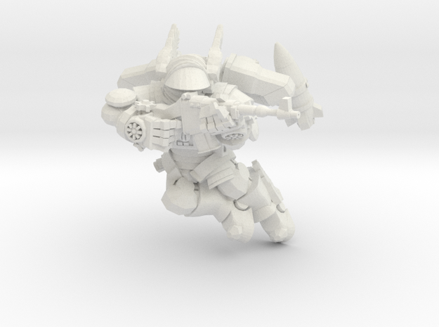Astroknight Rocketman Flying Aiming Rifle in White Natural Versatile Plastic