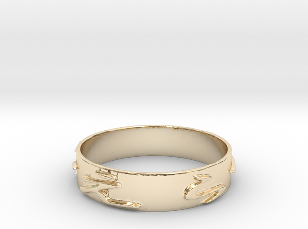 Gi wo Erabe (Size 6.5) in 14K Yellow Gold