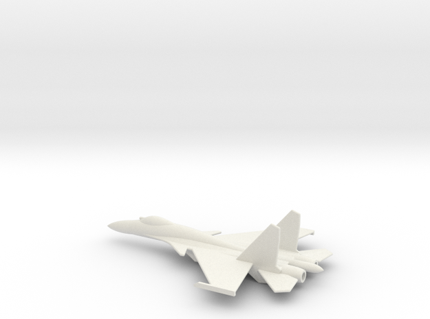 Su-33 Naval Flanker D 1/285 scale in White Natural Versatile Plastic