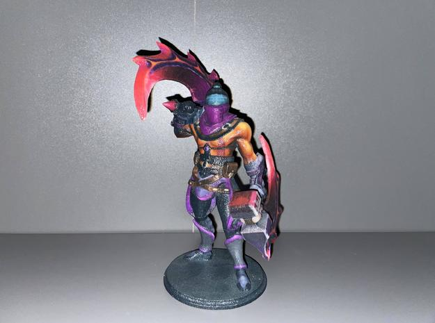 Anti-Mage with Basher of Mage Skulls in Natural Full Color Sandstone