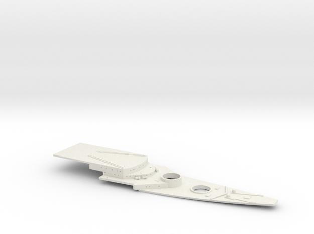 1/700 FlugDeckKreuzer AIII Bow Deck (w/out Deck Pl in White Natural Versatile Plastic