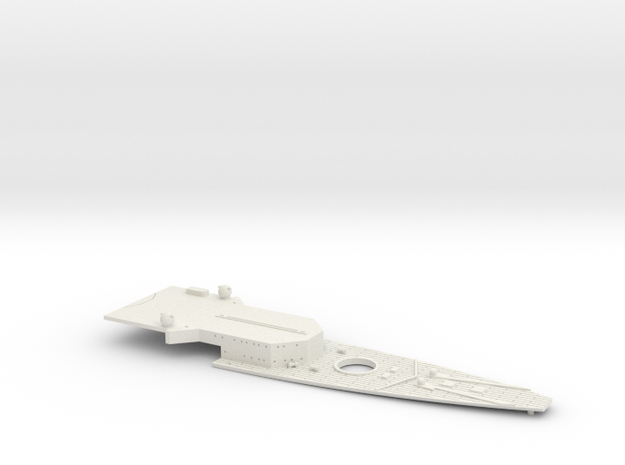 1/700 FlugDeckKreuzer AII Bow Deck in White Natural Versatile Plastic