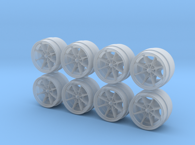 MF8 8-55 1/64 Scale Wheels in Smooth Fine Detail Plastic