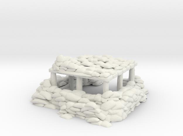 Sandbag Bunker 1/64 in White Natural Versatile Plastic
