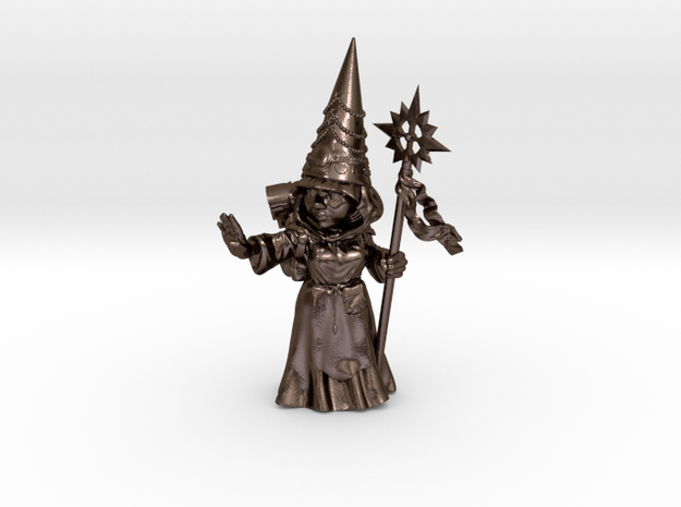 Gnomess in Polished Bronze Steel