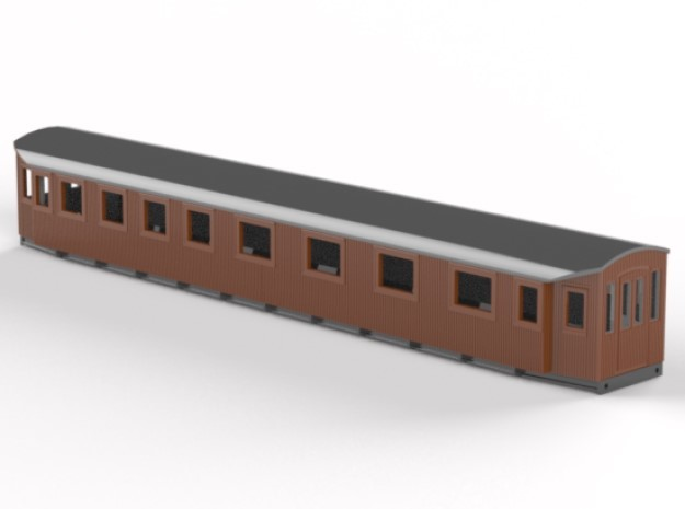 BCo9 - Swedish passenger wagon in Smooth Fine Detail Plastic