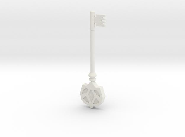 Resident Evil Remake Accurate Helmet Key in White Natural Versatile Plastic