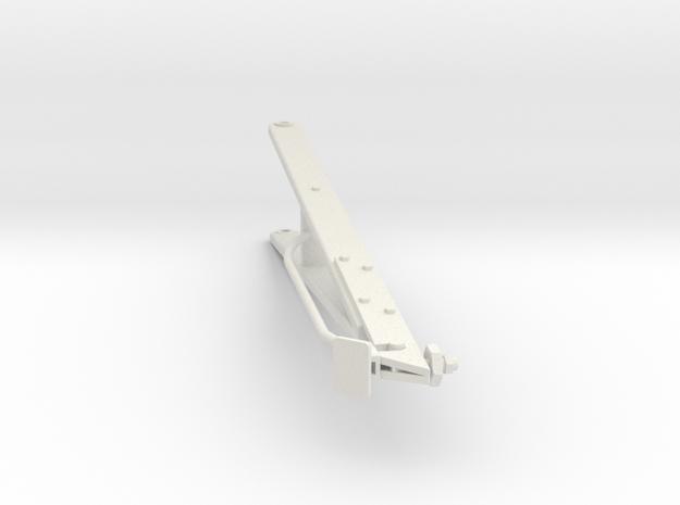Higgins Radar Mast S0 20th scale A Frame in White Natural Versatile Plastic