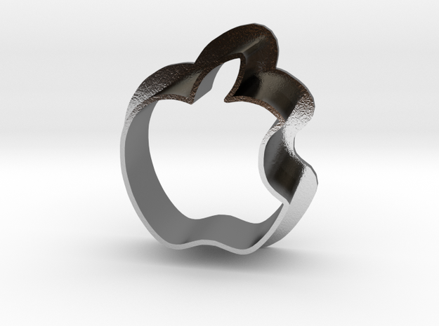Apple Logo with bite 3d printed