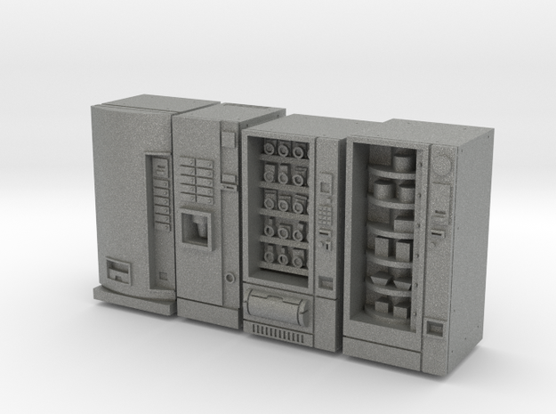 Four Vending Machines 1/24 scale in Gray PA12