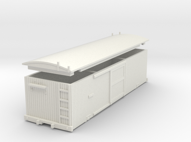 USMRR Boxcar in White Natural Versatile Plastic