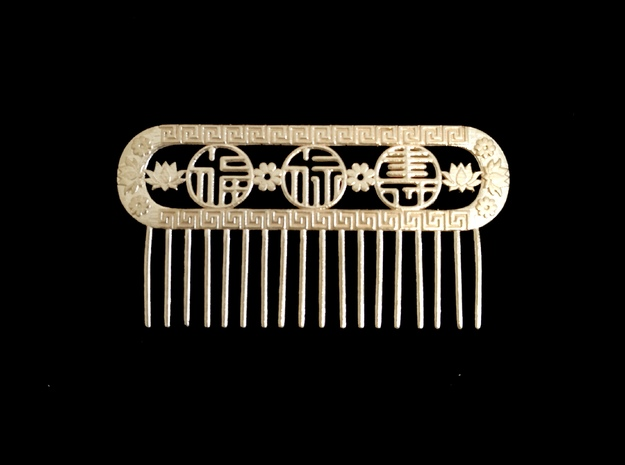 Comb in Natural Brass