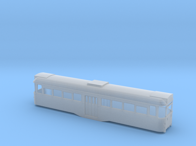 Blackpool Twin Car 675 Perm Coupled - N in Smoothest Fine Detail Plastic