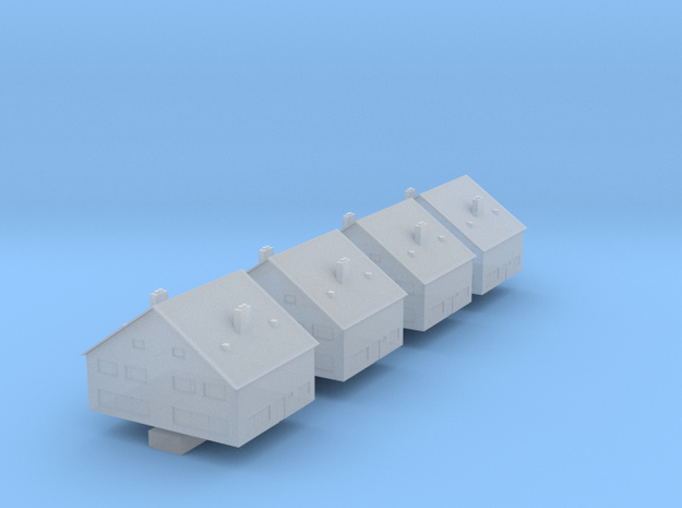 1:700 Scale Europe Houses (D) in Smooth Fine Detail Plastic