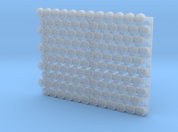 3501 - 1/35 '+' type padeyes, closed bottom, 120pc in Smooth Fine Detail Plastic