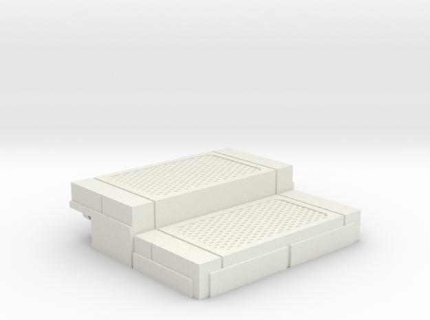 Starcom - Starbase Command - Plattform Stairs in White Natural Versatile Plastic
