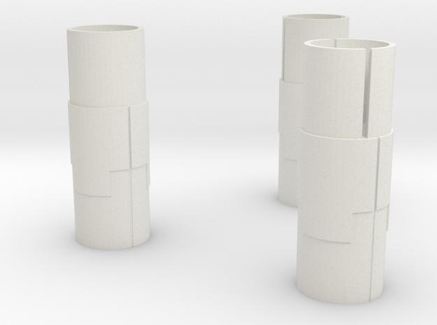 Starcom - Starbase Command - Plattform Stuts 3x in White Natural Versatile Plastic