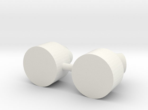 FCS 2610 - exhaust pipe (2pcs) in White Natural Versatile Plastic