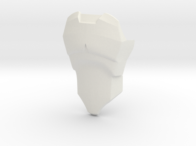 CCBS Chestplate 2 in White Natural Versatile Plastic