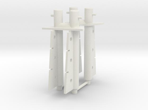 FCS2610 - bollard fwd (2 pcs) in White Natural Versatile Plastic