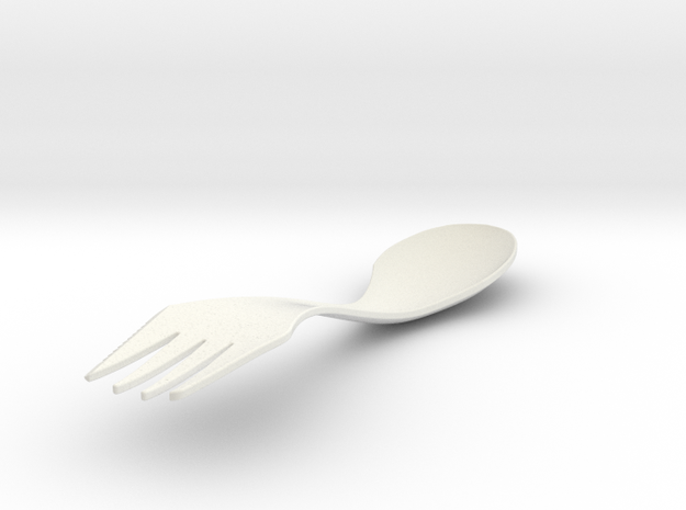 sporknife in White Natural Versatile Plastic