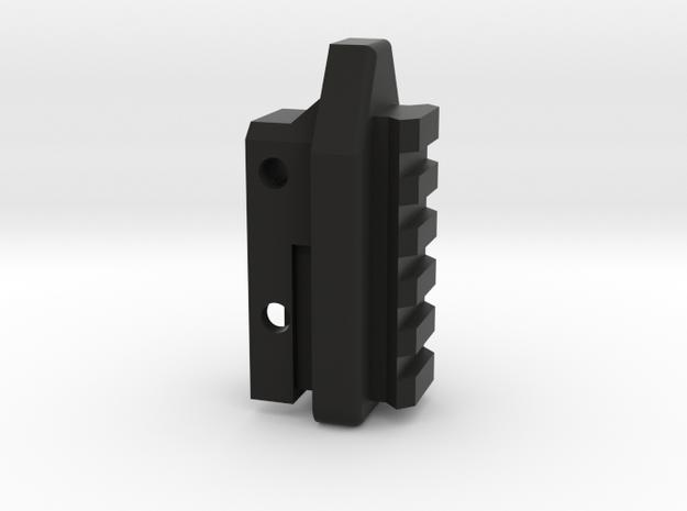 Deranged Masada stock adapter in Black Natural Versatile Plastic