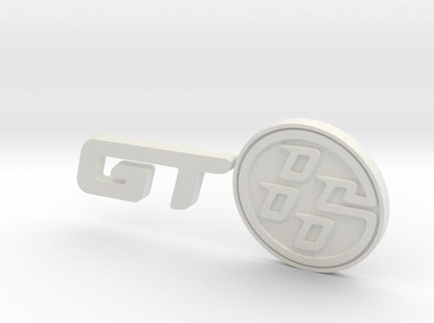 Toyota GT-86 Logo Badge in White Natural Versatile Plastic