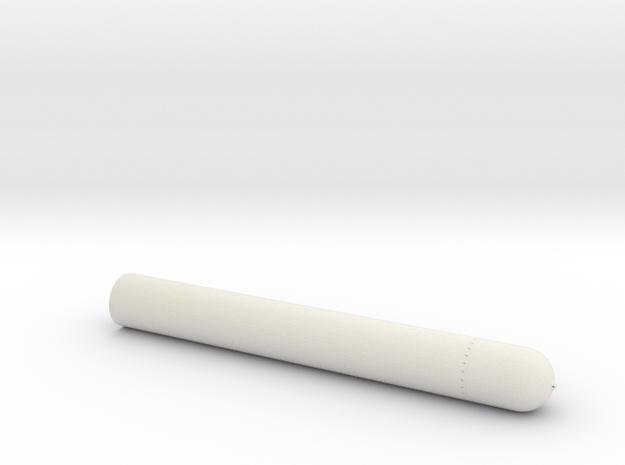 Torpedo mk8 16th front in White Natural Versatile Plastic