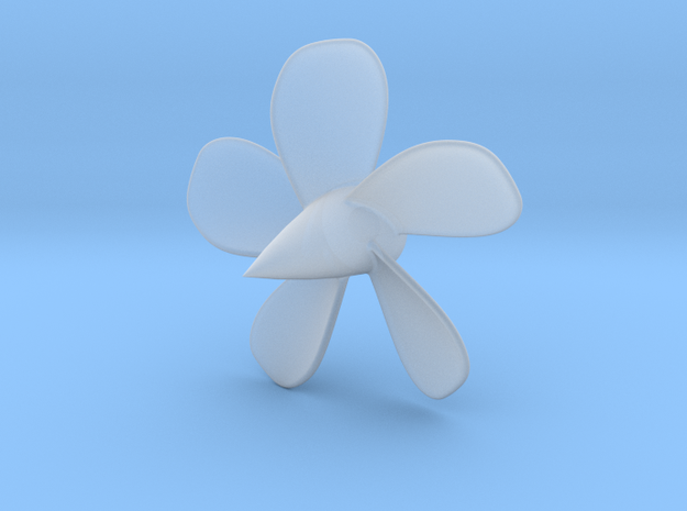 1/144 Permit/Thresher 593 class 5-blade propeller in Smooth Fine Detail Plastic
