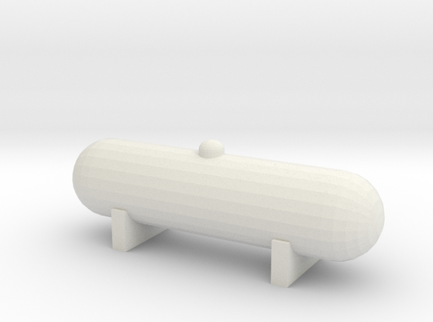 Propane Tank (1:87) in White Natural Versatile Plastic