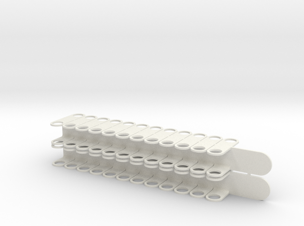 "N Scale Wheel Holder 33"" 2-Pack in White Natural Versatile Plastic"