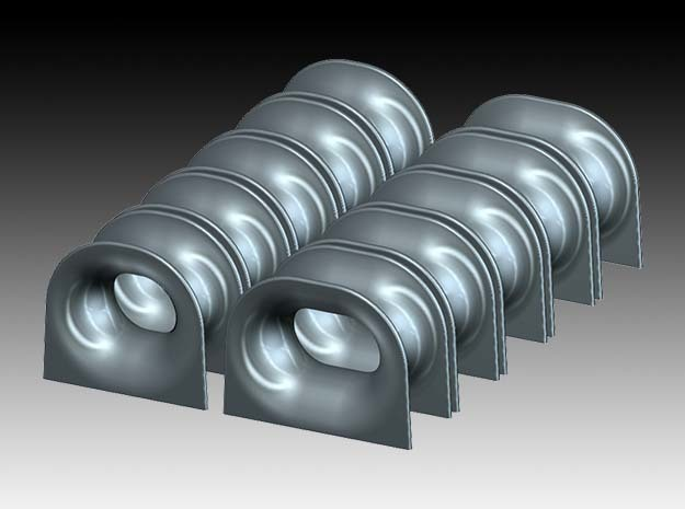 Free standing chock NS-2590 - 1:50 in Smooth Fine Detail Plastic
