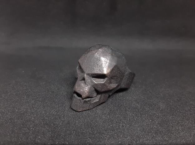 Vampire Skull Ring (Size 9) in Polished and Bronzed Black Steel