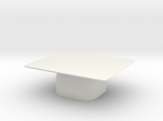 1:48 Coffee Table in White Natural Versatile Plastic: 1:48 - O