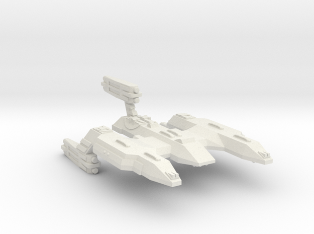 3788 Scale Lyran X-Ship Wildcat-X Battlecruiser in White Natural Versatile Plastic