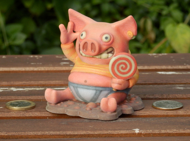 Happy as a Pig... in Full Color Sandstone