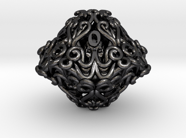 Mind Flayer D10 in Polished and Bronzed Black Steel
