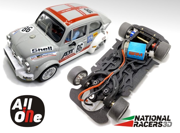 Chassis BRM FIAT ABARTH 1000 TC (AiO-Aw) in Black PA12