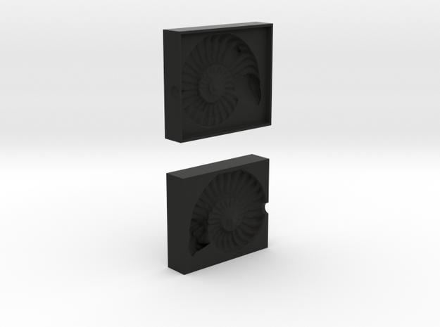 Ammonite Mold in Black Natural Versatile Plastic