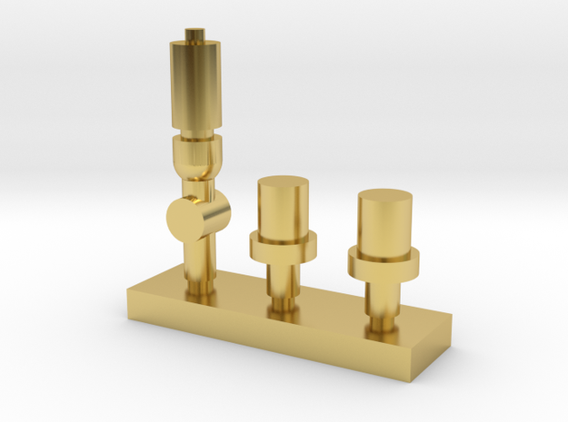 OO Scale NWR #4 Whistle and Safety Valves in Polished Brass