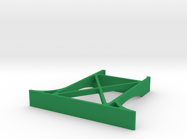 Wooden track bridge support simple in Green Processed Versatile Plastic
