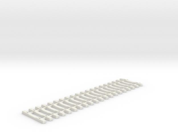 Concrete Tie Lattice - Oscale in White Strong & Flexible