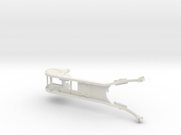 1/6th Scale Main Frame of MG08 Sled in White Natural Versatile Plastic