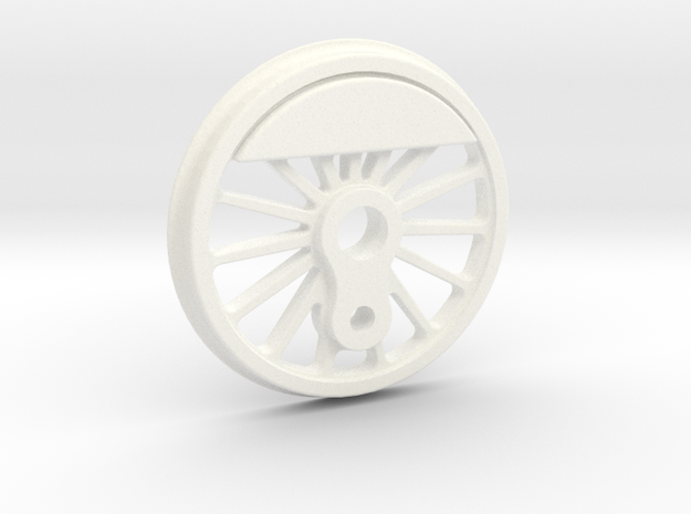 "3/4"" Scale USRA 63"" Medium Counterweight Driver in White Processed Versatile Plastic"