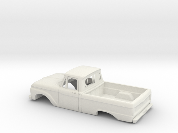 1/16 1966 Ford F Series Reg Cab Reg Bed Shell in White Natural Versatile Plastic