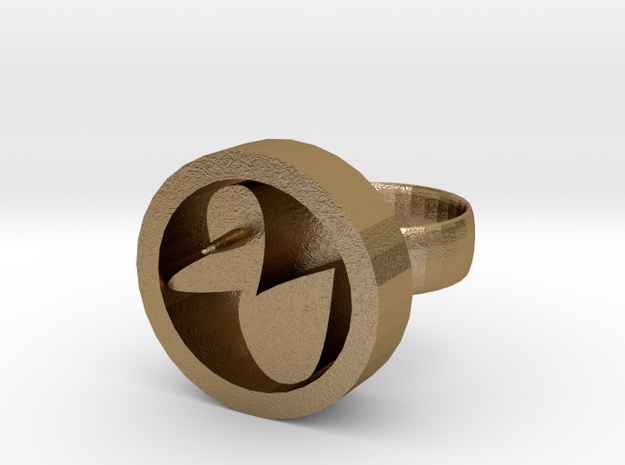 Rubber Ducky Ring in Polished Gold Steel